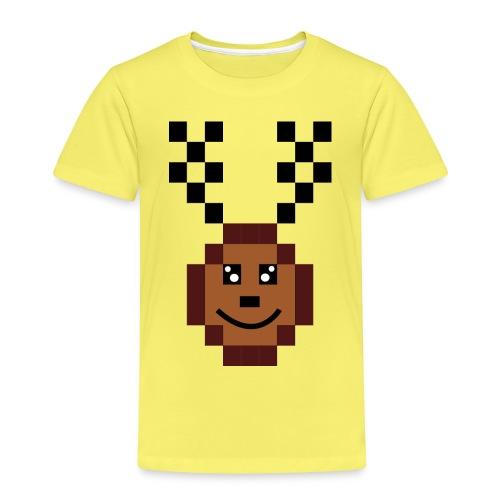 Renna 8 bit - Maglietta Premium per bambini