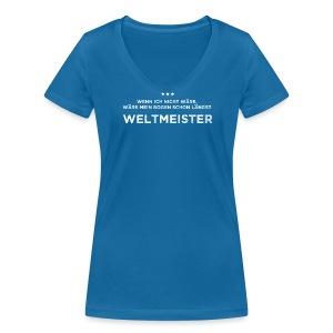 Weltmeister - Frauen Bio-T-Shirt - Frauen Bio-T-Shirt mit V-Ausschnitt von Stanley & Stella