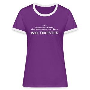 Weltmeister - Frauen Kontrast-T-Shirt - Frauen Kontrast-T-Shirt