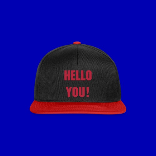 Hello You! Snapback (black-red) - Snapback Cap
