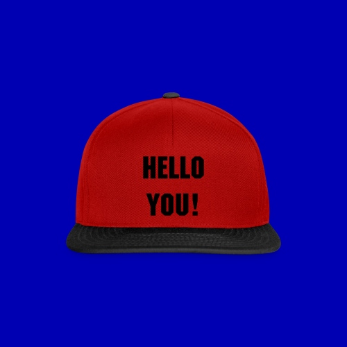 Hello You! Snapback (red-black) - Snapback Cap