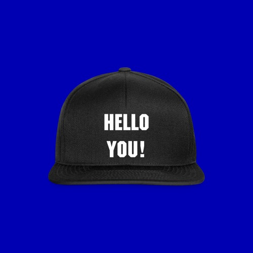 Hello You! Snapback (black-black) - Snapback Cap