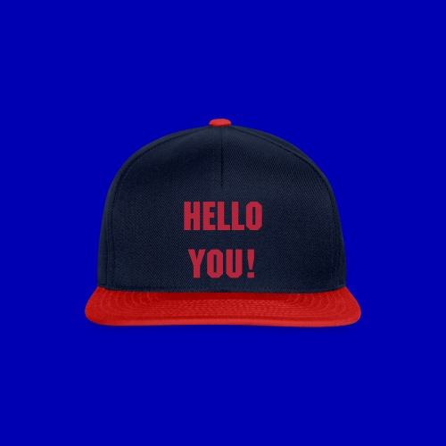 Hello You! Snapback (navy-red) - Snapback Cap