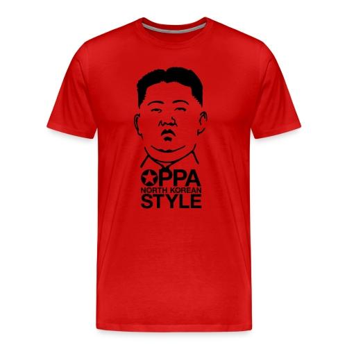 Oppa North Korean Style - Premium-T-shirt herr