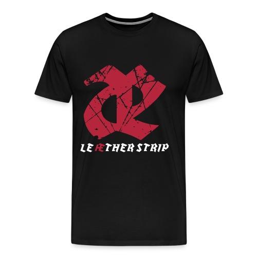 Leæther Strip Logo Tee - Men's Premium T-Shirt
