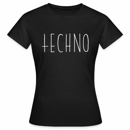 Techno Hand Schrift Text Kreuz Raver Party Musik