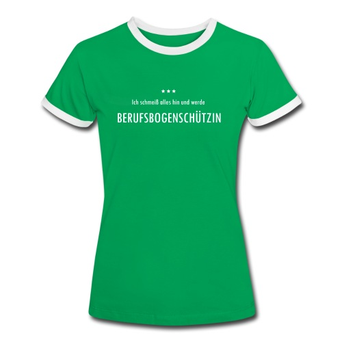 Berufsbogenschützin - Frauen Kontrast-T-Shirt - Frauen Kontrast-T-Shirt