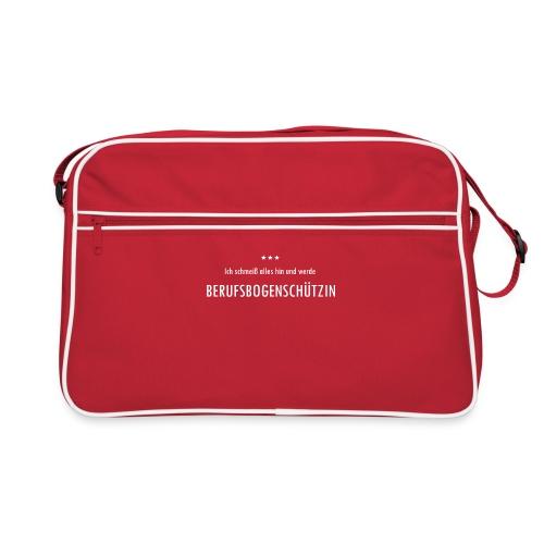 Berufsbogenschützin - Frauen Retro Tasche - Retro Tasche