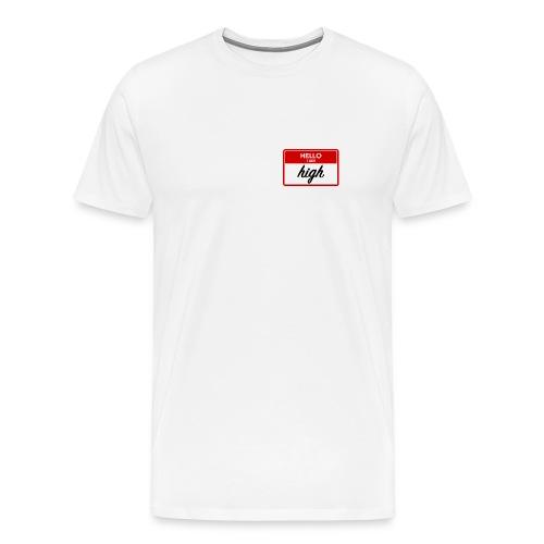 Hello I am high - white (Men) - Men's Premium T-Shirt