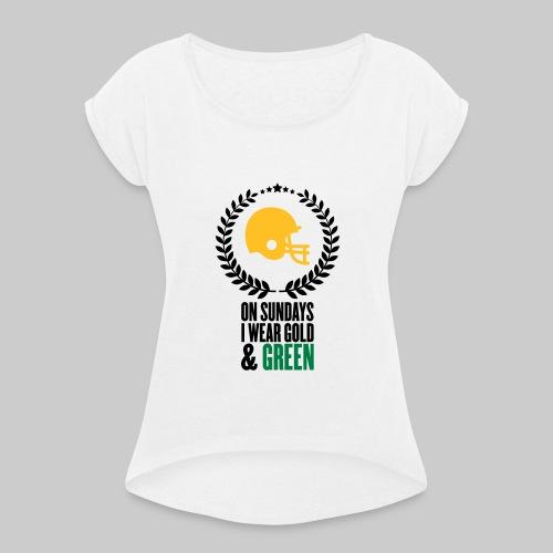 On Sundays | Frauen T-Shirt mit gerollten Ärmeln - Frauen T-Shirt mit gerollten Ärmeln