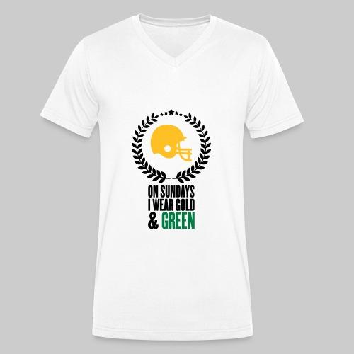 On Sundays | V-Neck Herren T-Shirt aus Bio-Baumwolle  - Männer Bio-T-Shirt mit V-Ausschnitt von Stanley & Stella