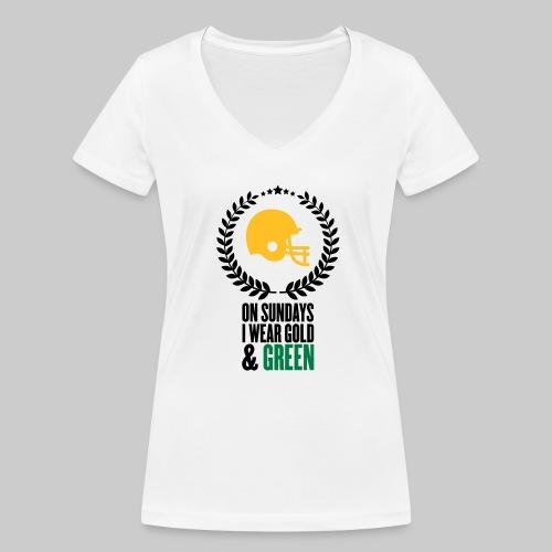 On Sundays | V-Neck Frauen T-Shirt aus Bio-Baumwolle - Frauen Bio-T-Shirt mit V-Ausschnitt von Stanley & Stella