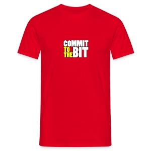 Commit to the Bit Logo Shirt (Male) - Men's T-Shirt