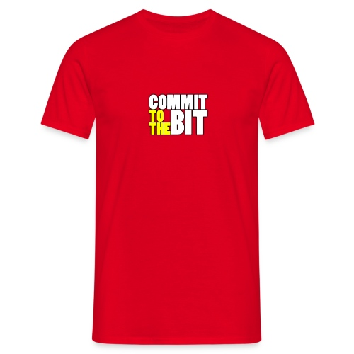 Commit to the Bit Logo Shirt (Male) - Men's T-Shirt
