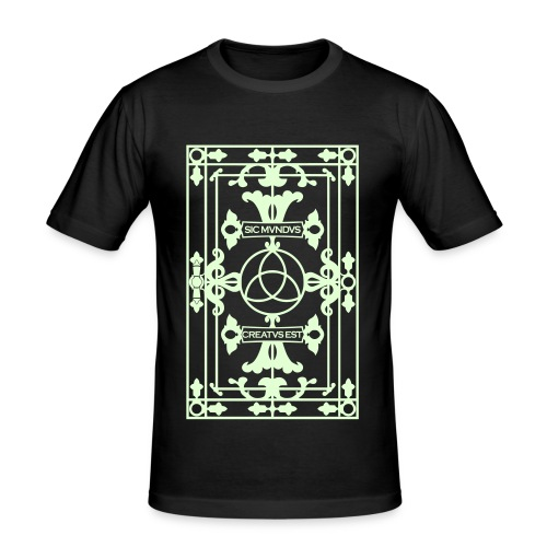 SIC MUNDUS CREATUS EST glow in the dark - Männer Slim Fit T-Shirt