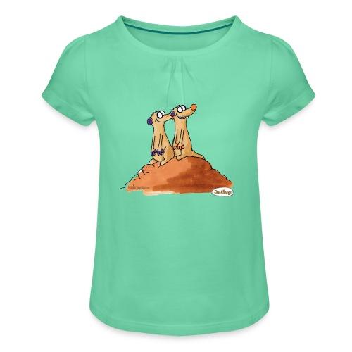 Jan Und Henry Hügel - Mädchen-T-Shirt mit Raffungen