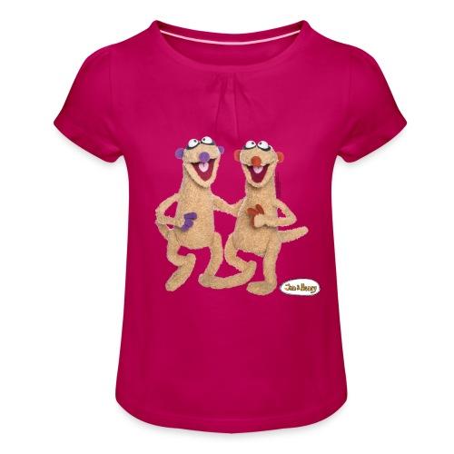 Jan Und Henry - Mädchen-T-Shirt mit Raffungen