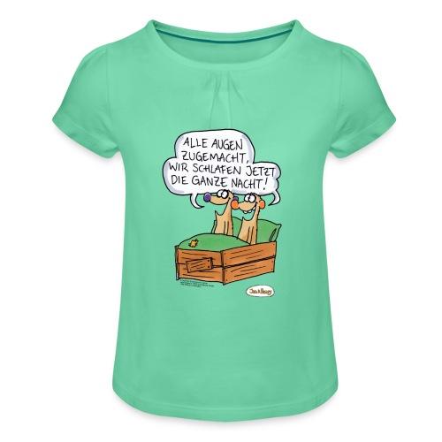 Jan & Henry Alle Augen zugemacht - Mädchen-T-Shirt mit Raffungen