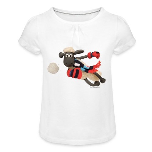 Mädchen Shirt Shaun das Schaf - Mädchen-T-Shirt mit Raffungen