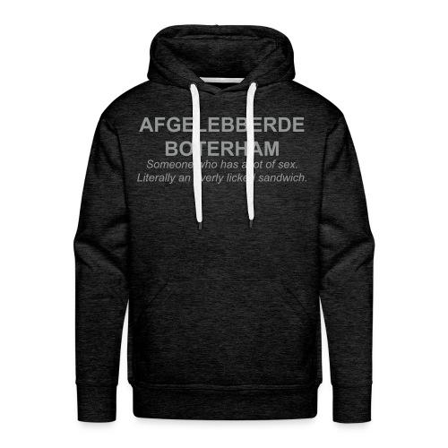 Afgelebberde Boterham - Mannen Premium hoodie
