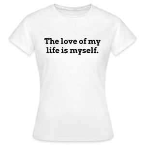 Myself white - Women's T-Shirt