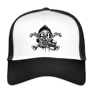 Skull & Crossbones gasmask cap - Trucker Cap