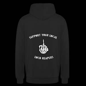 SYL Loco Reapers MC hoodie front & back - Sweat-shirt à capuche unisexe