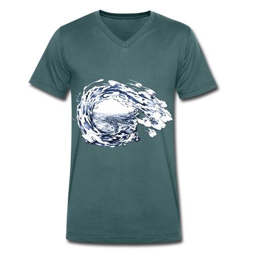 WELLE - Männer Bio-T-Shirt mit V-Ausschnitt von Stanley & Stella