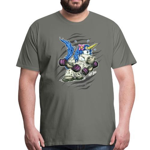 Train like a unicorn blue - Männer Premium T-Shirt