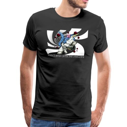 Don't mess with the unicorn blue - Männer Premium T-Shirt