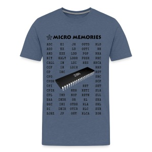 Programmer's T-Shirt with Z80 Chip and Mnemonics - Men's Premium T-Shirt