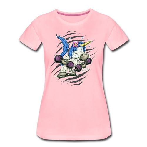 Train like a unicorn blue - Frauen Premium T-Shirt