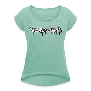 ti-dablju-styles Logo - Frauen T-Shirt mit gerollten Ärmeln