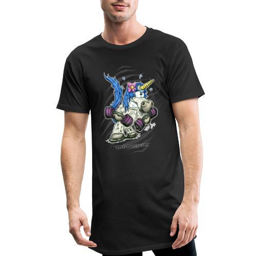 Train like a unicorn blue - Männer Urban Longshirt