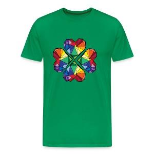 Rainbow geometric clover leaf  - Men's Premium T-Shirt
