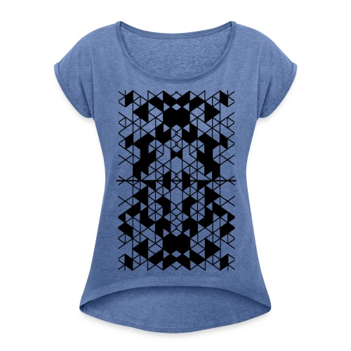 Geometric art Women's T-Shirt with rolled up sleeves - Women's T-Shirt with rolled up sleeves