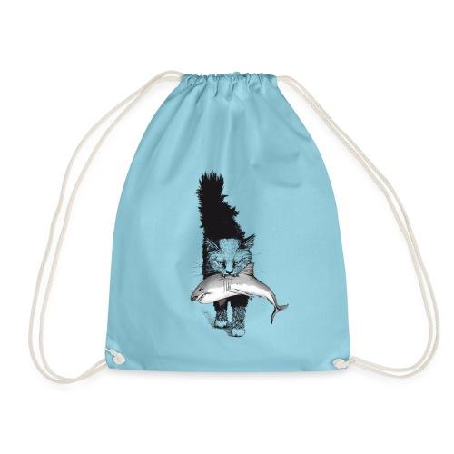 Shark Cat - Drawstring Bag