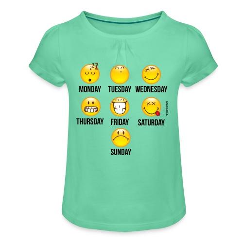 SmileyWorld Weekday mode - Mädchen-T-Shirt mit Raffungen
