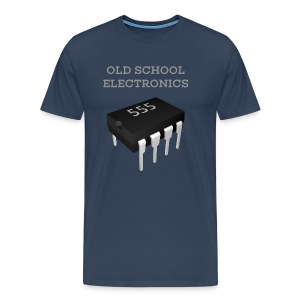 Old School Electronics - 555 Timer Chip T-Shirt - Men's Premium T-Shirt