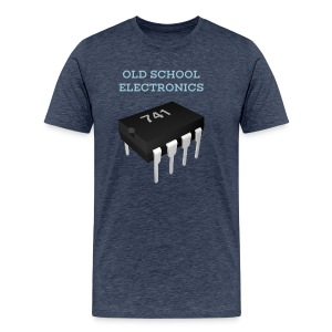 Old School Electronics - 741 Op-Amp Chip T-Shirt - Men's Premium T-Shirt