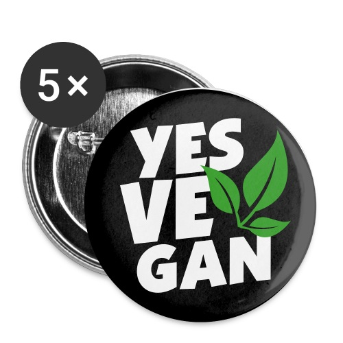 Yes Vegan / Yes ve gan (3c) - Buttons klein 25 mm
