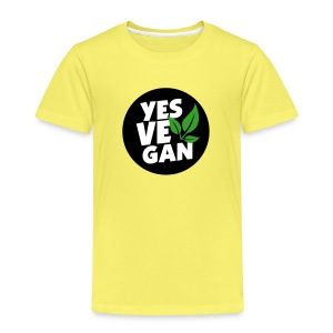 Yes Vegan / Yes ve gan (3c) - Kinder Premium T-Shirt