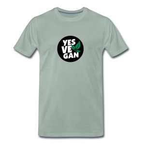 Yes Vegan / Yes ve gan (3c) - Männer Premium T-Shirt