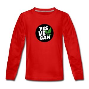 Yes Vegan / Yes ve gan (3c) - Teenager Premium Langarmshirt