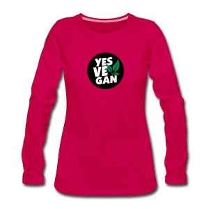 Yes Vegan / Yes ve gan (3c) - Frauen Premium Langarmshirt