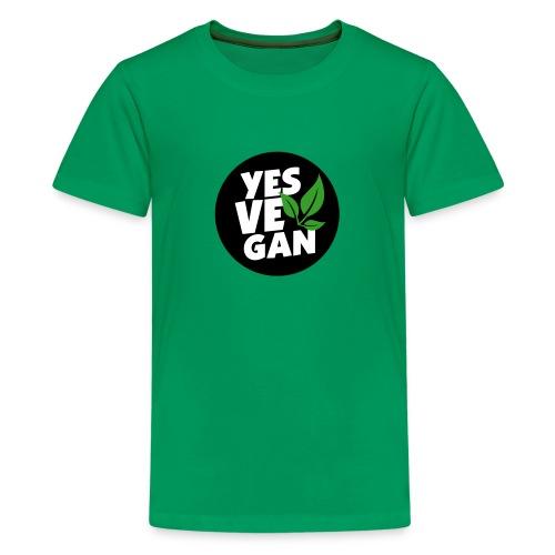 Yes Vegan / Yes ve gan (3c) - Teenager Premium T-Shirt