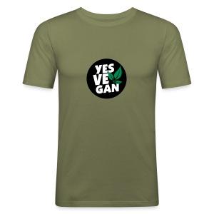 Yes Vegan / Yes ve gan (3c) - Männer Slim Fit T-Shirt
