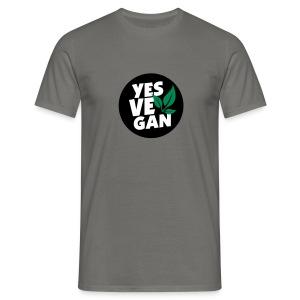 Yes Vegan / Yes ve gan (3c) - Männer T-Shirt