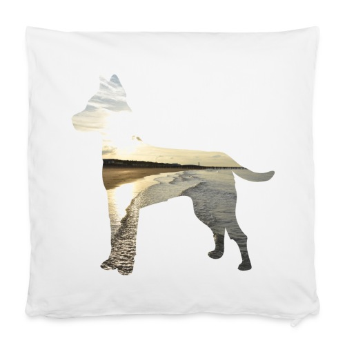 Hund-Nordsee - Kissenbezug 40 x 40 cm