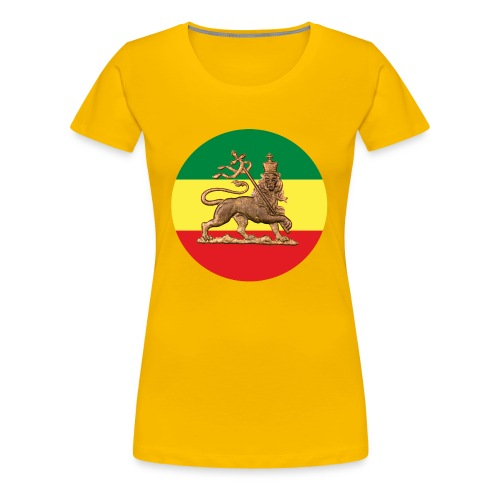 Lion of Judah - Ethiopian Flag - Jah Rastafari Queen Shirt - Frauen Premium T-Shirt